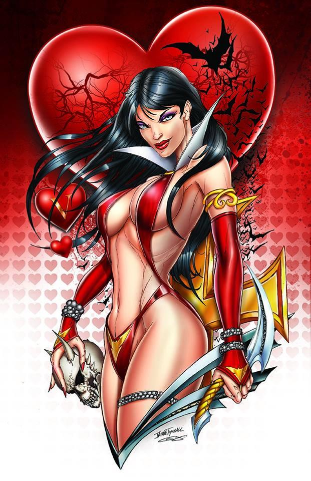 VAMPIRELLA VALENTINES DAY SPECIAL Jamie Tyndall Virgin Variant Cover Limited to 500