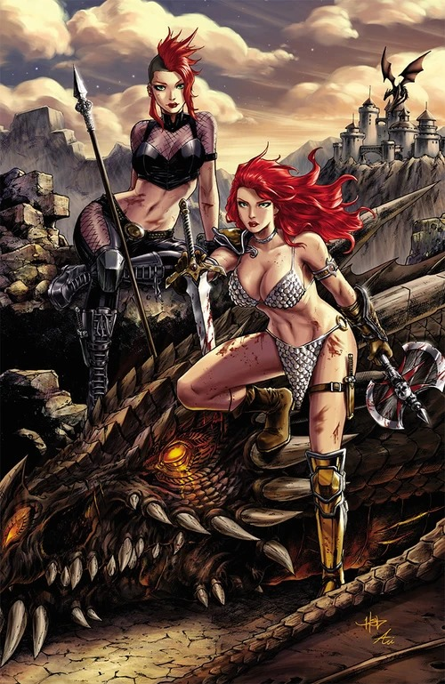 RED SONJA AGE OF CHAOS #3 UNKNOWN COMICS CREEES EXCLUSIVE VIRGIN VARIANT
