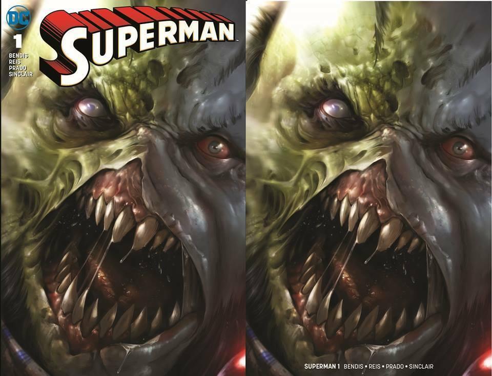 SUPERMAN #1 FRANCESCO MATTINA ROGOL ZAAR FULL/MINIMAL TRADE VARIANT SET LTD 600