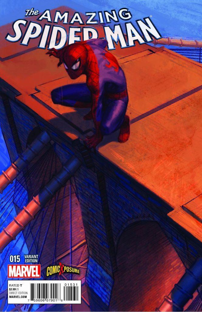 AMAZING SPIDERMAN 15 COMICXPOSURE JORGE MOLINA COLOR VARIANT COVER!/SPIDER-GWEN 1 COMICXPOSURE JORGE MOLINA COLOR VARIANT CONNECTS TO ASM 15